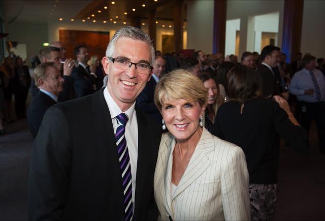 David Speers and Julie Bishop