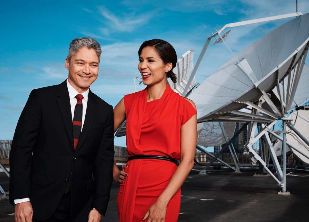 SBS World News presenters Janice Petersen and Anton Enus