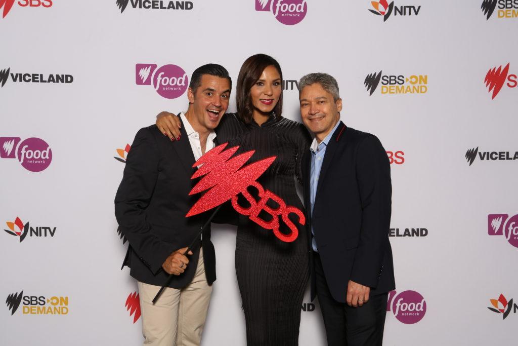 Ricardo Goncalves, Janice Peterson and Anton Enus of SBS World News