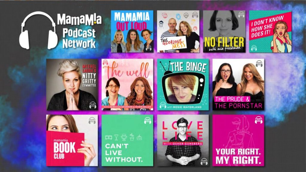 Some of the shows in Mamamia Podcast Network