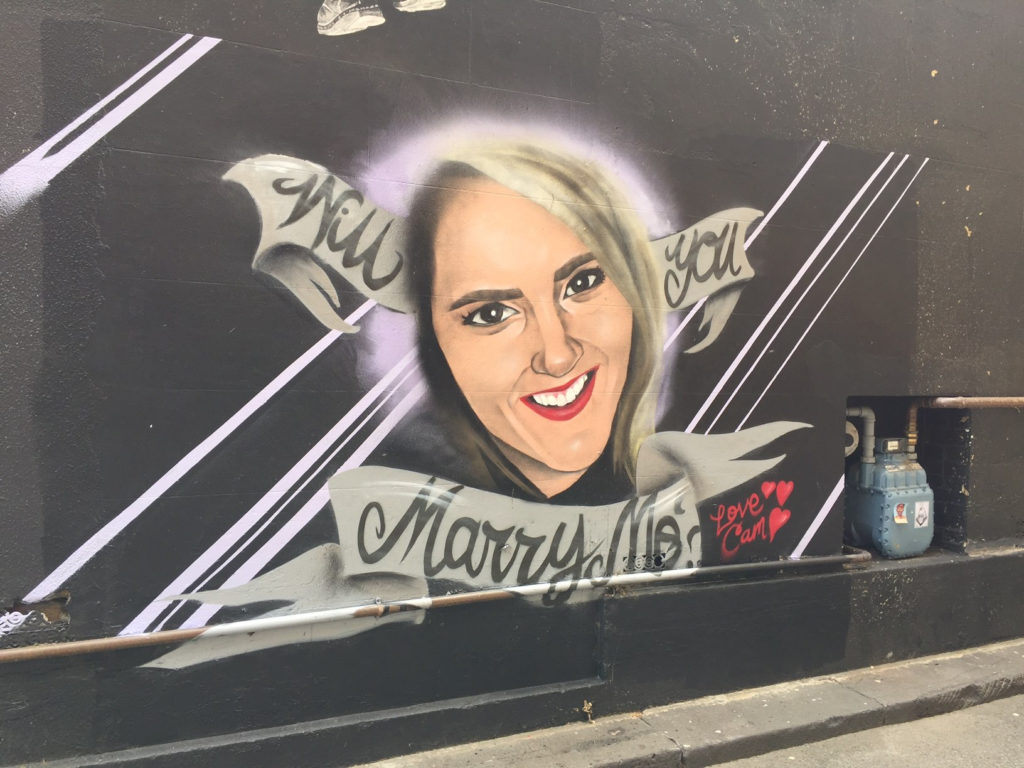 the-spray-painted-proposal-on-a-wall-of-melbourne-laneway-spotted-by-kate-stevenson