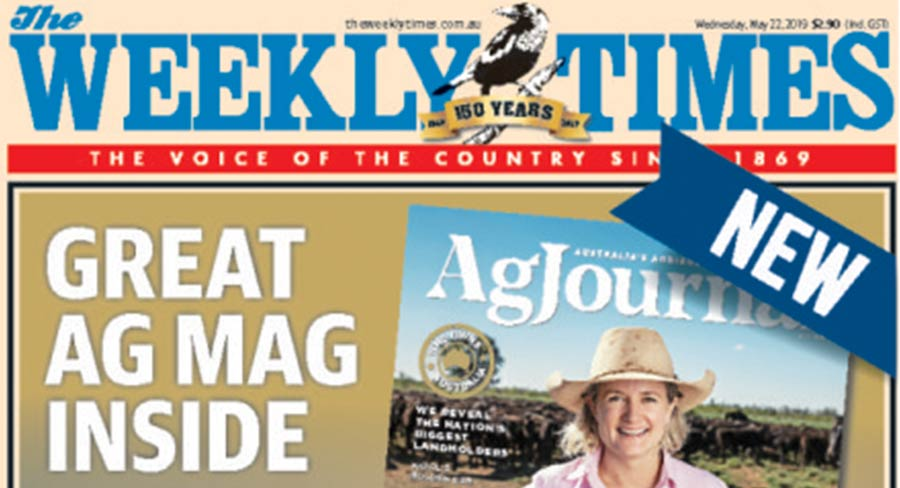 The Weekly Times Launches new mag- Agjournal