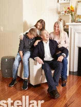 Photo: Mark Beretta, wife Rachel and kids Ava and Dan for Stellar magazine Father's Day issue to appear in The Sunday Telegraph. Picture: Mick Bruzzese