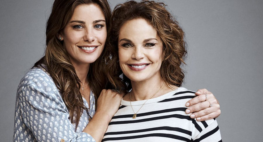 Laura Gibson (Sigrid Thornton) with daughter Miranda (Brooke Satchwell)