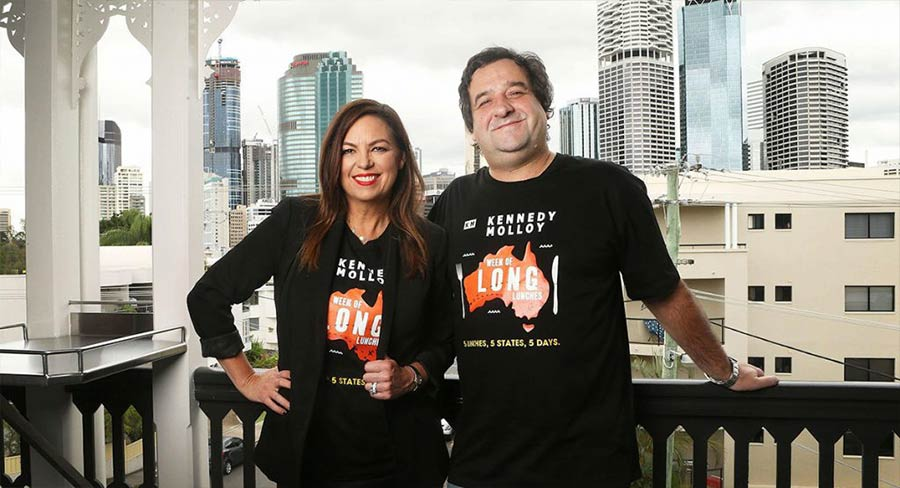 Jane Kennedy with Mick Molloy