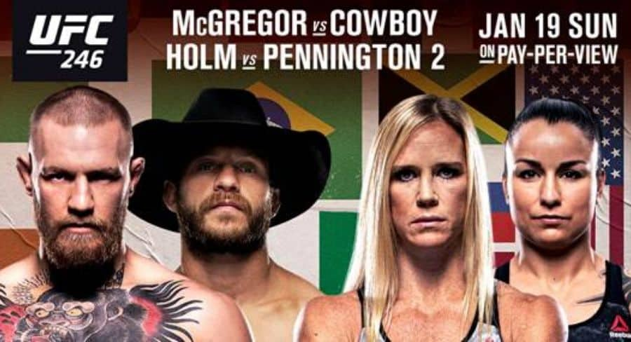 Ufc 246 Mcgregor Vs Cowboy Live From Las Vegas This Weekend