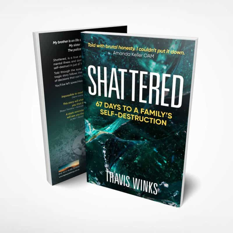 Shattered Travis Winks book