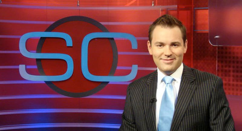 Travis Winks hosting SportsCenter