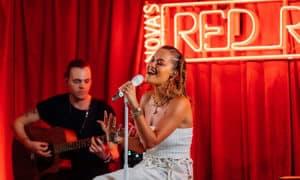Rita Ora red room